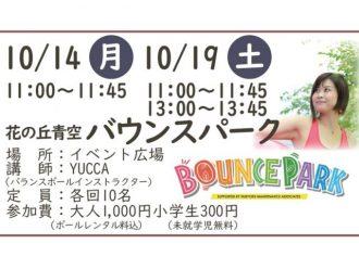 主催イベント:「花の丘青空バウンスパーク」参加者募集!の画像
