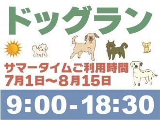 主催イベント:ドッグランサマータイム時間の画像