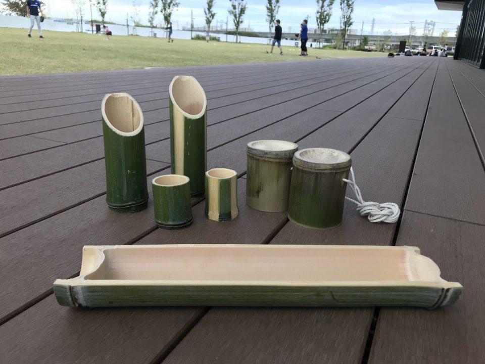 高槻の木のワークショップ -竹工作-