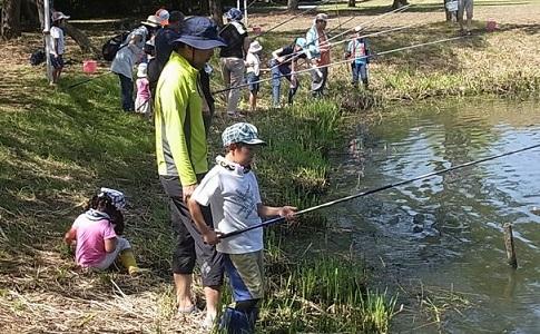 外来魚釣り体験